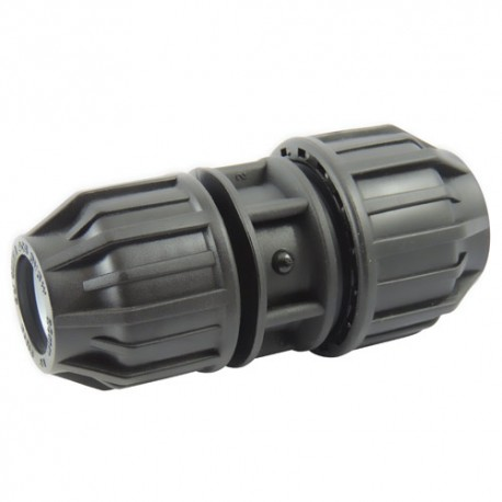 Manchon compression plastique réduit 25x20 - raccord de tube PE - RS-Pompes.