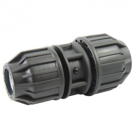 Manchon compression plastique réduit 63x50 - raccord de tube PE - RS-Pompes.