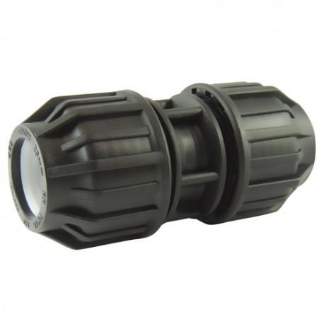 Manchon compression plastique égal diamètre 25 - raccord de tube PE - RS-Pompes.