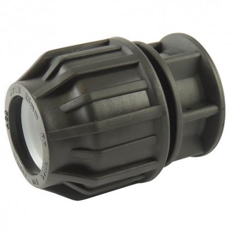 Bouchon compression plastique 25 - raccord de tube PE - RS-Pompes.