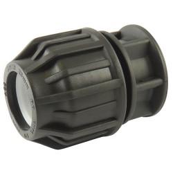 Bouchon compression plastique 63 - raccord de tube PE - RS-Pompes.