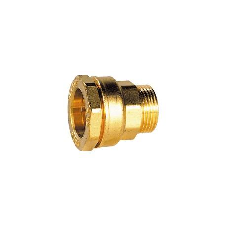 "Raccord laiton mâle pour tube PE 32 - 1"" - DECA - raccord laiton - RSpompe."
