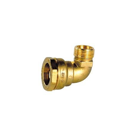 "Coude laiton mâle pour tube PE 32 - 1"" - DECA - raccord laiton - RSpompe."