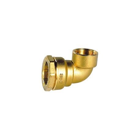 """Coude laiton femelle pour tube PE 32 - 1"""" - DECA - raccord laiton - RSpompe."""