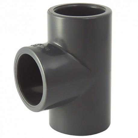 Té PVC coller 63x63x63 - CODITAL - raccords PVC - RSpompe.