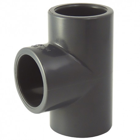Té PVC coller 75x75x75 - CODITAL - raccords PVC - RSpompe.