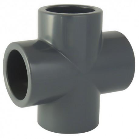 Croix PVC à coller 32 - CODITAL - raccords PVC - RSpompe.