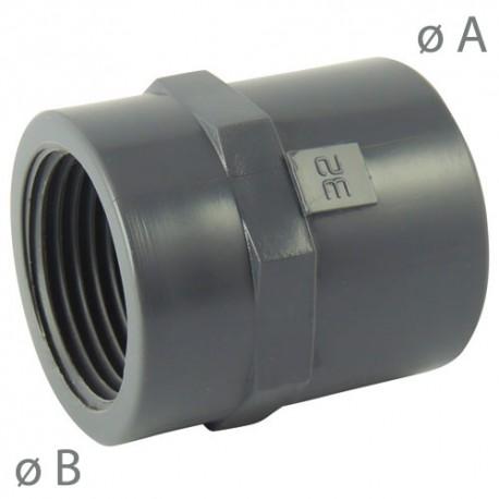"""Manchon PVC taraudé coller 63x2"""" - CODITAL - raccords PVC - RSpompe."""