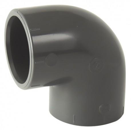 Coude à 90 ° PVC égal à coller 75x75 - CODITAL - raccords PVC - RSpompe.