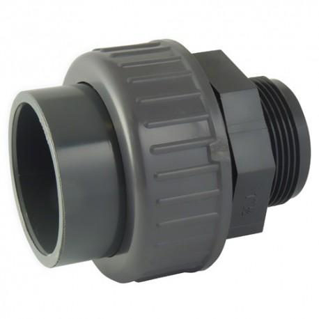 "Union PVC mixte fileté 50x1""1/2 - CODITAL - raccords PVC - RSpompe."