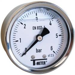 Manomètre glycérine 0 - 6 bars axial diamètre 63 - manomètre de précision - RS-Pompes.