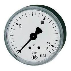 Manomètre glycérine 0 - 16 bars axial diamètre 63 - manomètre de précision - RS-Pompes.