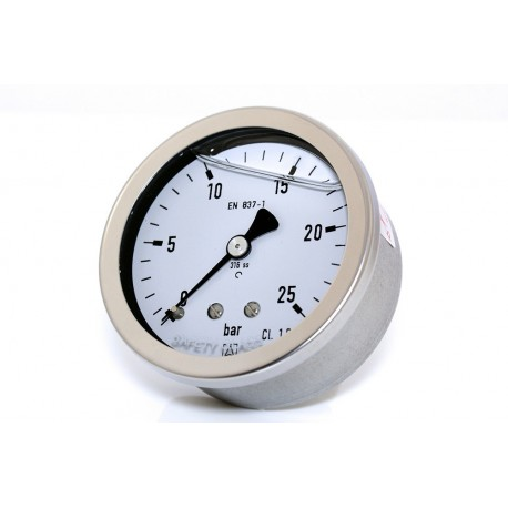 Manomètre glycérine 0 - 25 bars axial diamètre 63 - manomètre de précision - RS-Pompes.