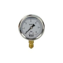 Manomètre glycérine 0 - 6 bars radial diamètre 63 - manomètre de précision - RS-Pompes.