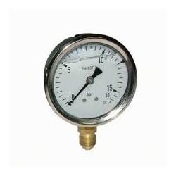 Manomètre glycérine 0 - 16 bars radial diamètre 63 - manomètre de précision - RS-Pompes.