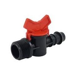 """Vannette cannelé diamètre 16 mm x 3/4"""" pour goutte-à -goutte - raccords de tuyau - RS-Pompes."""