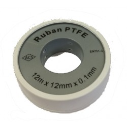 Ruban Teflon PRO 12 mm ep 0.1 mm 12 ml _ RS-Pompes.