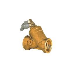 """Filtre à tamis en bronze 1""""1/4 avec vanne - Filtre à sable avec tamis inox - RS-Pompes."""
