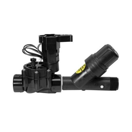 """Kit XCZ 9 volts 1 """" complet - Rain Bird - électrovanne + filtre + régulateur de pression - RS-Pompes."""