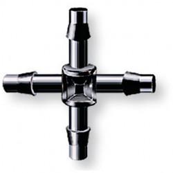 Croix à 90° 4 x 6 mm - Raccord pour micro-irragation - Goutte à goutte - RS-Pompes.