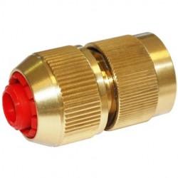 Coupleur automatique laiton Stop pour tuyau 15 mm - Raccord d'arrosage extérieur - RS-Pompes.