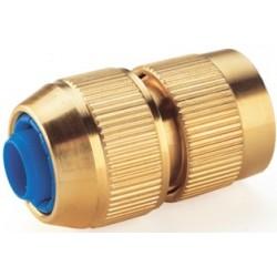 Coupleur automatique laiton pour tuyau 15 mm - Raccord d'arrosage extérieur - RS-Pompes.