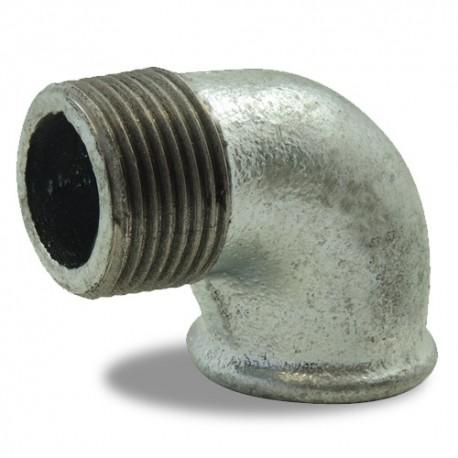 """Coude à 90° égal Ø 2""""1/2 galvanisée - Femelle-mâle - Raccord galvanisé - RS-Pompes."""